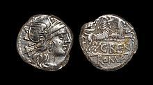 Ancient Roman Republican Coins - Calus Renius - Juno in Goat Biga Denarius
