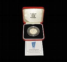 English Milled Coins - Elizabeth II - 1998 NHS - Royal Mint Proof Silver Piedfort 50 Pence