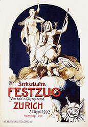 Poster: Sechseläuten Festzug - Zürich