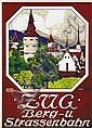 Poster: Zug - Berg- und Strassenbahn