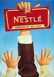 Poster: Nestlé - Chocolat au lait
