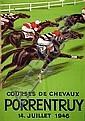 Poster: Courses Chevaux Porrentruy