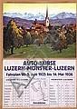 Poster: Auto-Kurse Luzern-Münster