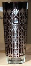Small Dark Red Turkey Crystal Vase