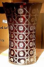 Intricat Red Turkey Crystal Vase