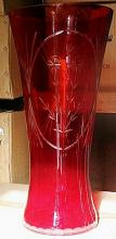 Stunning Red Turkey Crystal Vase