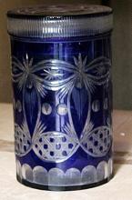 Fancy Dark Blue Turkey Crystal Cookie Jar