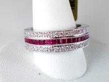 18k White Gold 1.65ct Ruby and Diamond Ring