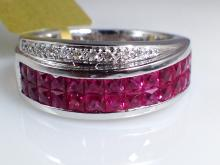 18k White Gold 3.36ct Ruby and Diamond Ring