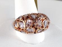 18k White and Rose Gold 7.7ct Morganite Ring