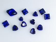 15.31ct Various Shaped Cut Synthetic Blue Sapphire