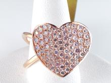 18k Rose Gold 1.45ct Natural Fancy Light Pink Diamond Ring