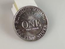 1991 1 oz Sunshine Mining Silver Coin