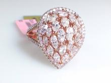 18k Rose Gold 1.84ct GIA Certified Fancy Natural Pink Diamond and Fancy Natural Pink Ring