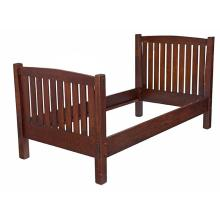 L & JG Stickleyknock-down bedstead, variation of #92 Fayetteville, NY oak signed with Handcraft decal accommodates an extra long ...
