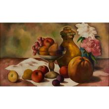 William Sylvester Carter, (American, 1909-1996), Still Life, 1947, oil on canvas, 15.5