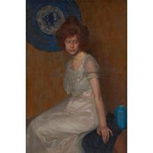 Will Rowland Davis, (American, 1879-1944), Portrait of a Redhead, 1912, oil on canvas, 40.25