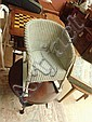 A Lloyd  Loom Lusty musical childs rocking chair