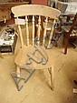 Set of four beech kitchen chairs