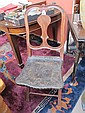 A 19th century Brazilian rosewood folding chair