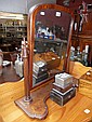 A 19th century mahogany toilet mirror