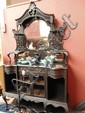 A late C19 ebonised display cabinet