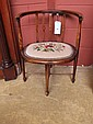 An Edwardian mahogany inlaid bedroom chair