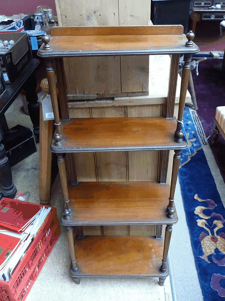 A C20 mahogany four tier what-not