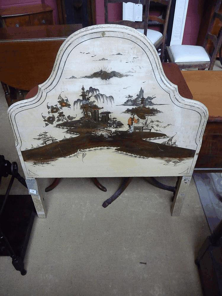 Chinoiserie single bed head