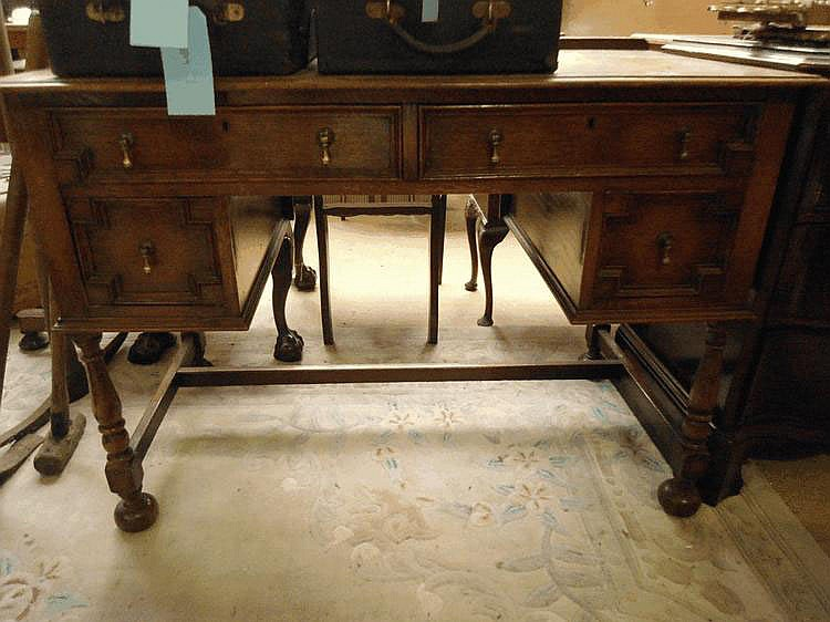 A 20th century oak dressing table