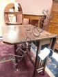 Edwardian mahogany drop leaf table.