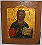 PAINTED RUSSIAN ICON ON PANEL,