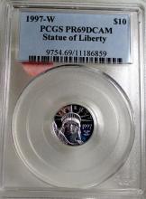 1997  W PR69DCAM PCGS SOL Platinum $10