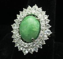 $1420 GG GIA appraisal Emerald Sapphire Ring
