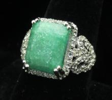 $2780 GG GIA appraisal Emerald and Topaz Ring