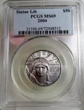 2004  MS 69 PCGS SOL $50 Platinum