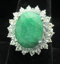 $1250 GG GIA appraisal Emerald Green BERYL Ring