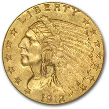 $2.5 Indian Head US Gold - Random Date VG-XF