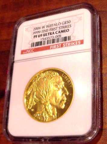 2006 PROOF Gold Buffalo PRF 69 ULTRA CAMEO