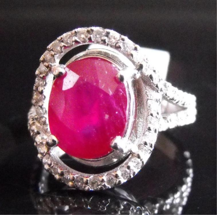 RA- 4.98 tcw Ruby & Dia. 18K Ring $ 5315 MSRP