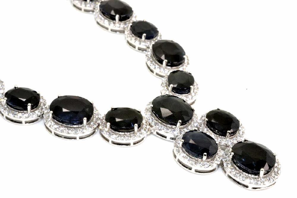 161.34 TCW Sapphire Necklace  $ 28,164 APP.