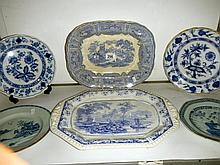 A selection of 18th and 19th C plates
