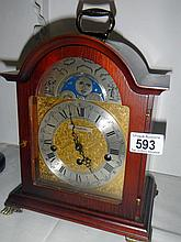 H. Samuel mantel clock with moon face