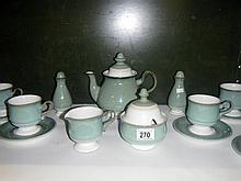 A Denby 6 piece tea set and cruets