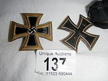 A rare WWI Class 2 Iron Cross Makers mark on ring  H possibly Hassaer Berlin ?