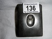 An antique pewter snuff box