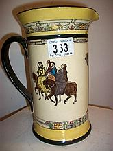 Royal Doulton 'Canterbury Pilgrims' jug, slight a/f (approx. height 8 1/4'' / 21cm)