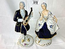 Pair of Royal Dux figures (approx. height 8 3/4'' / 22.25cm)