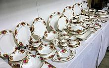 Approximately 73 items of Royal Albert Old Country Roses