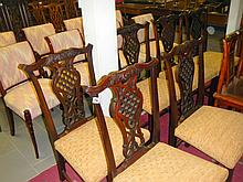 Set of six 18th-century mahogany Chippendale chairs